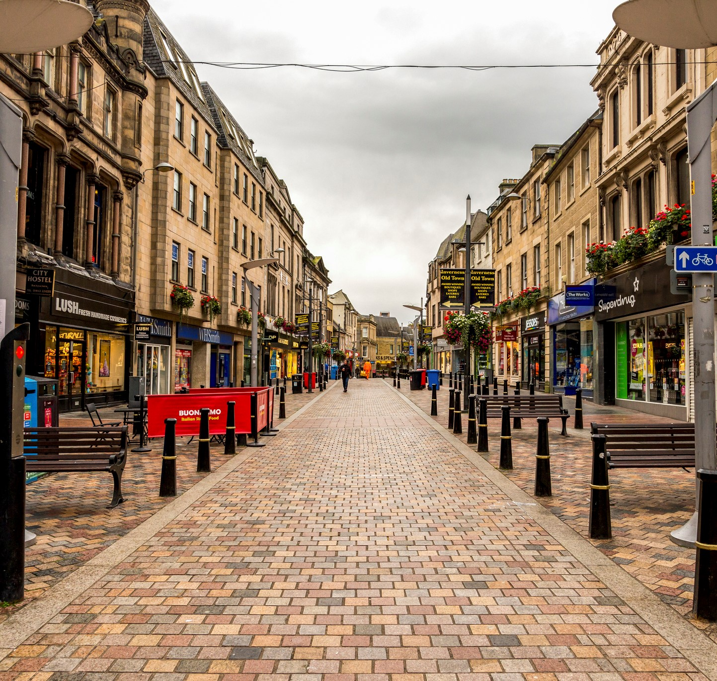 High Street in Scotland.
